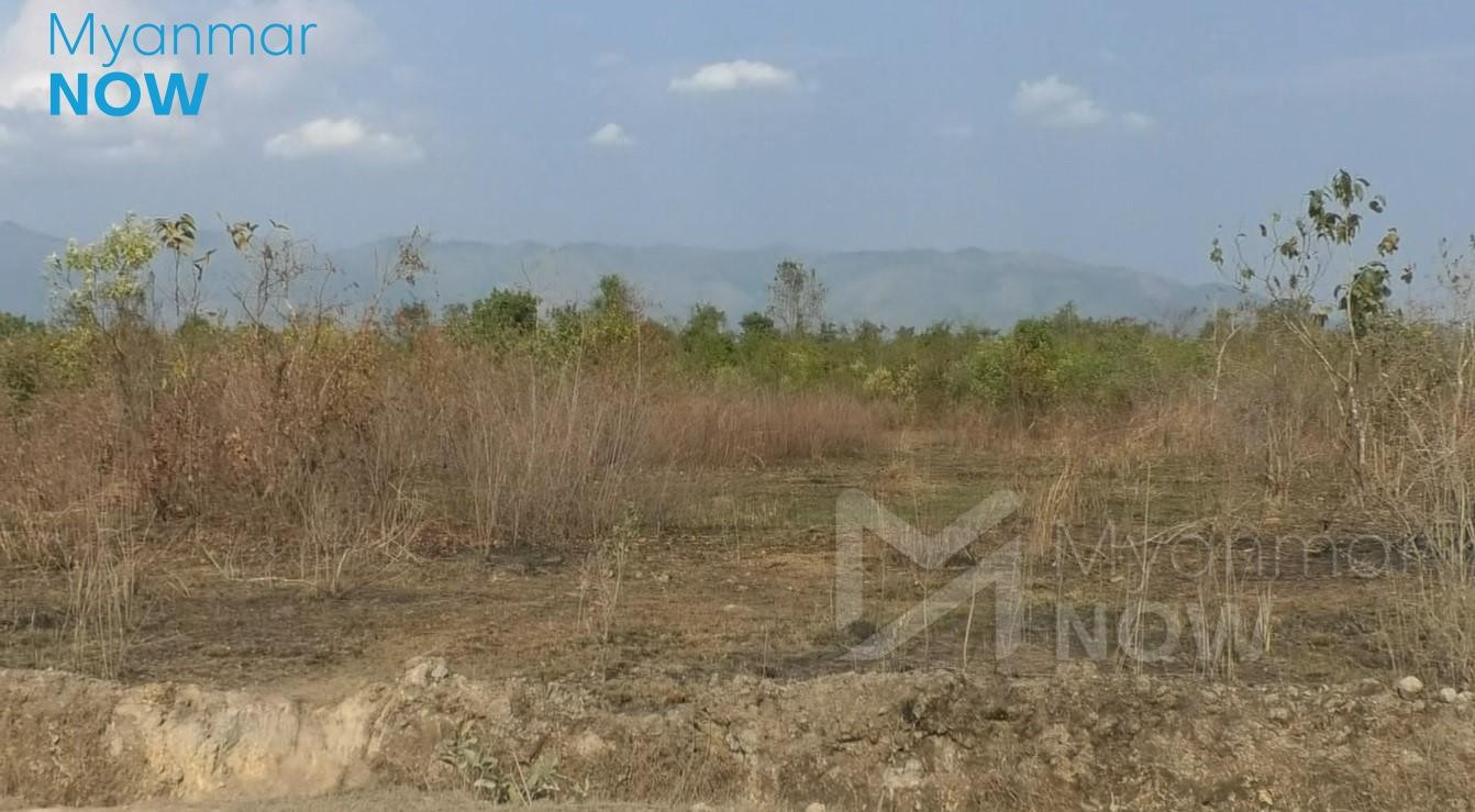 The site of Namjin economic zone seen on March 6 (Photo- Chan Thar/ Myanmar Now)