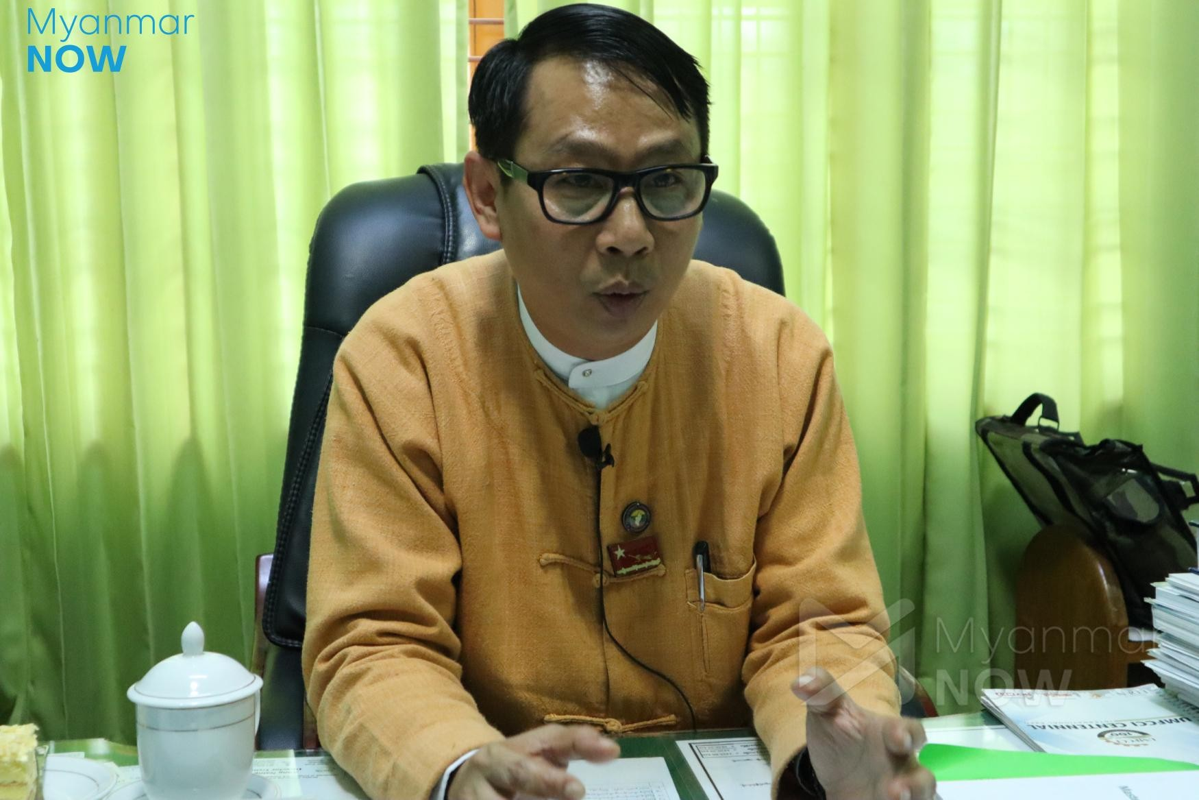 Planning and finance minister Wai Lin of the Kachin State government (Photo- Chan Thar/ Myanmar Now)