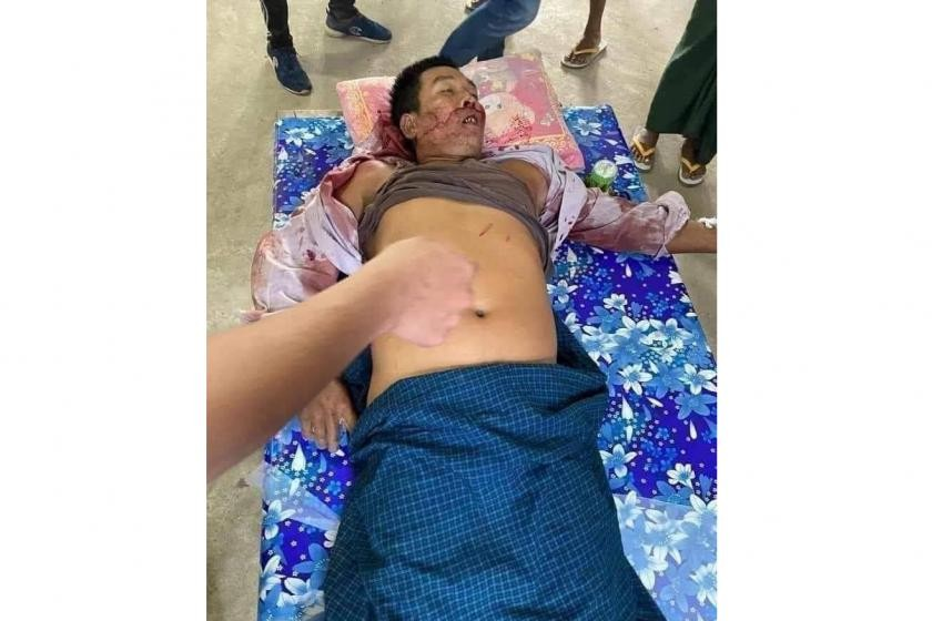 Kyaw Min Tun 41 was killed on March 16 after police opened fire on protesters in a bid to rescue a suspected informant